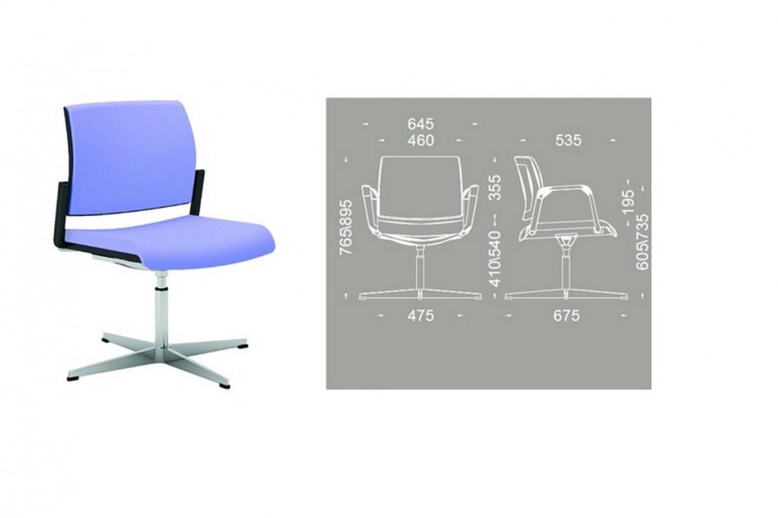 office 805 chaise de bureau avec accoudoirs pivotante r glable en hauteur seanroyale. Black Bedroom Furniture Sets. Home Design Ideas