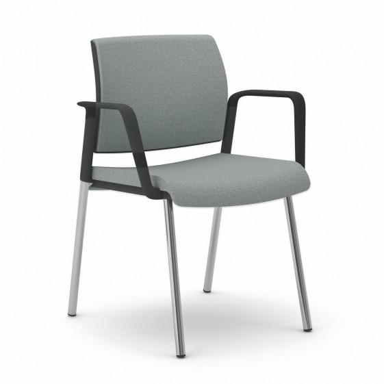 chaise de bureau ou r union avec accoudoirs et 4 pieds office 505. Black Bedroom Furniture Sets. Home Design Ideas
