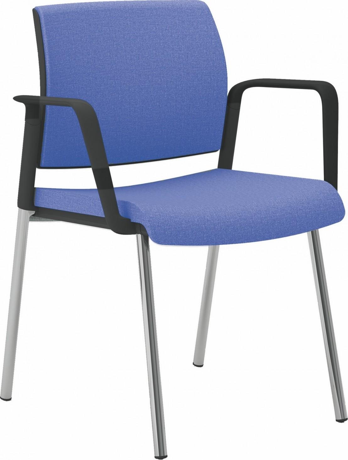 chaise de bureau ou r union avec accoudoirs et 4 pieds. Black Bedroom Furniture Sets. Home Design Ideas