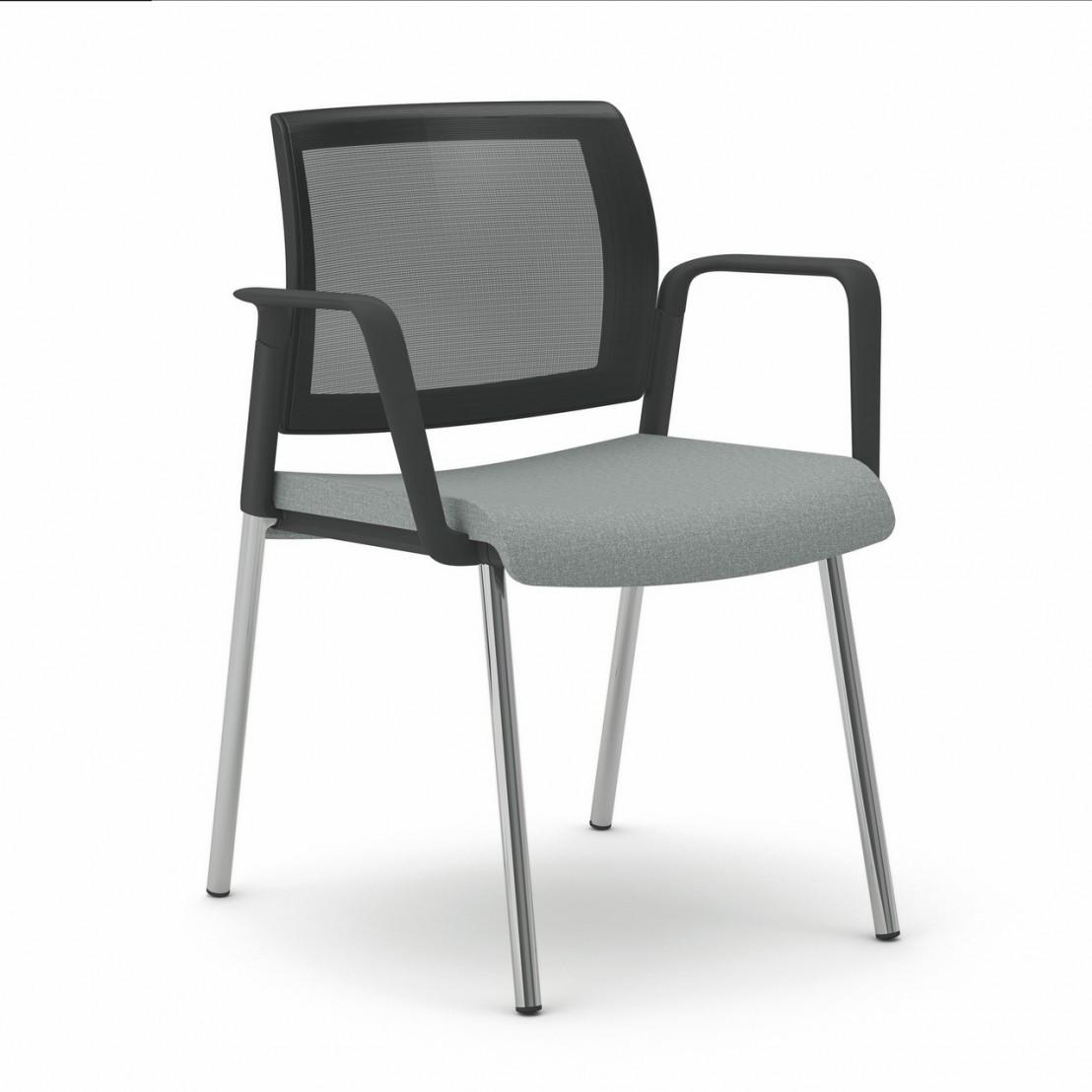 office 555 chaise de bureau avec accoudoirs dossier maille seanroyale. Black Bedroom Furniture Sets. Home Design Ideas