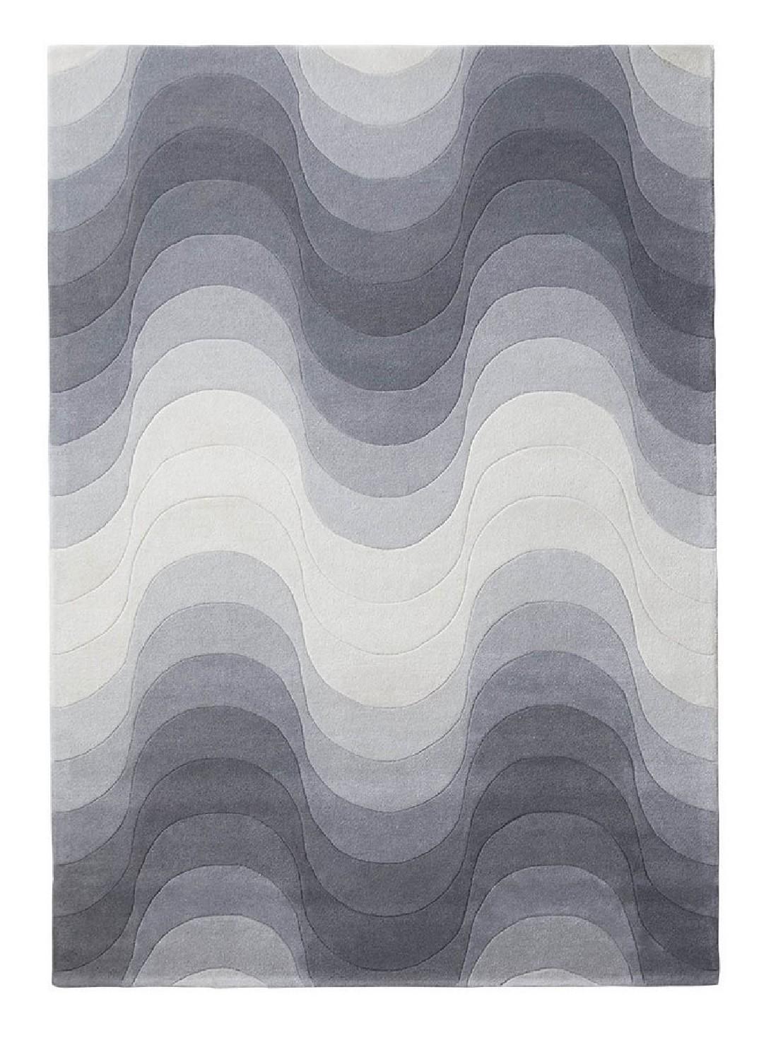tapis wave gris verpan laine de verner panton seanroyale. Black Bedroom Furniture Sets. Home Design Ideas