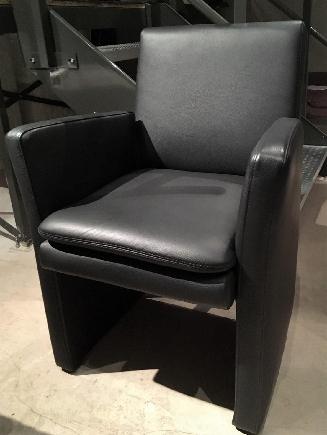 soldes fauteuil cuir noir pour table repas. Black Bedroom Furniture Sets. Home Design Ideas