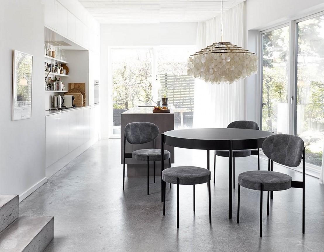 lustre fun 11dm brass laiton et nacre panton. Black Bedroom Furniture Sets. Home Design Ideas