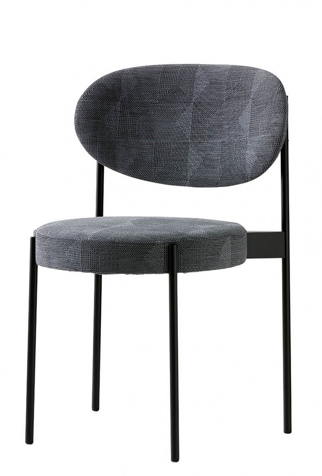 table ronde noire chaises verpan serie 430 lampe fun 11dm. Black Bedroom Furniture Sets. Home Design Ideas