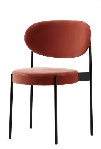 Lot de 2 chaises SERIE 430 en tissu Kvadrat Raf SIMONS Harald 3, design Verner PANTON