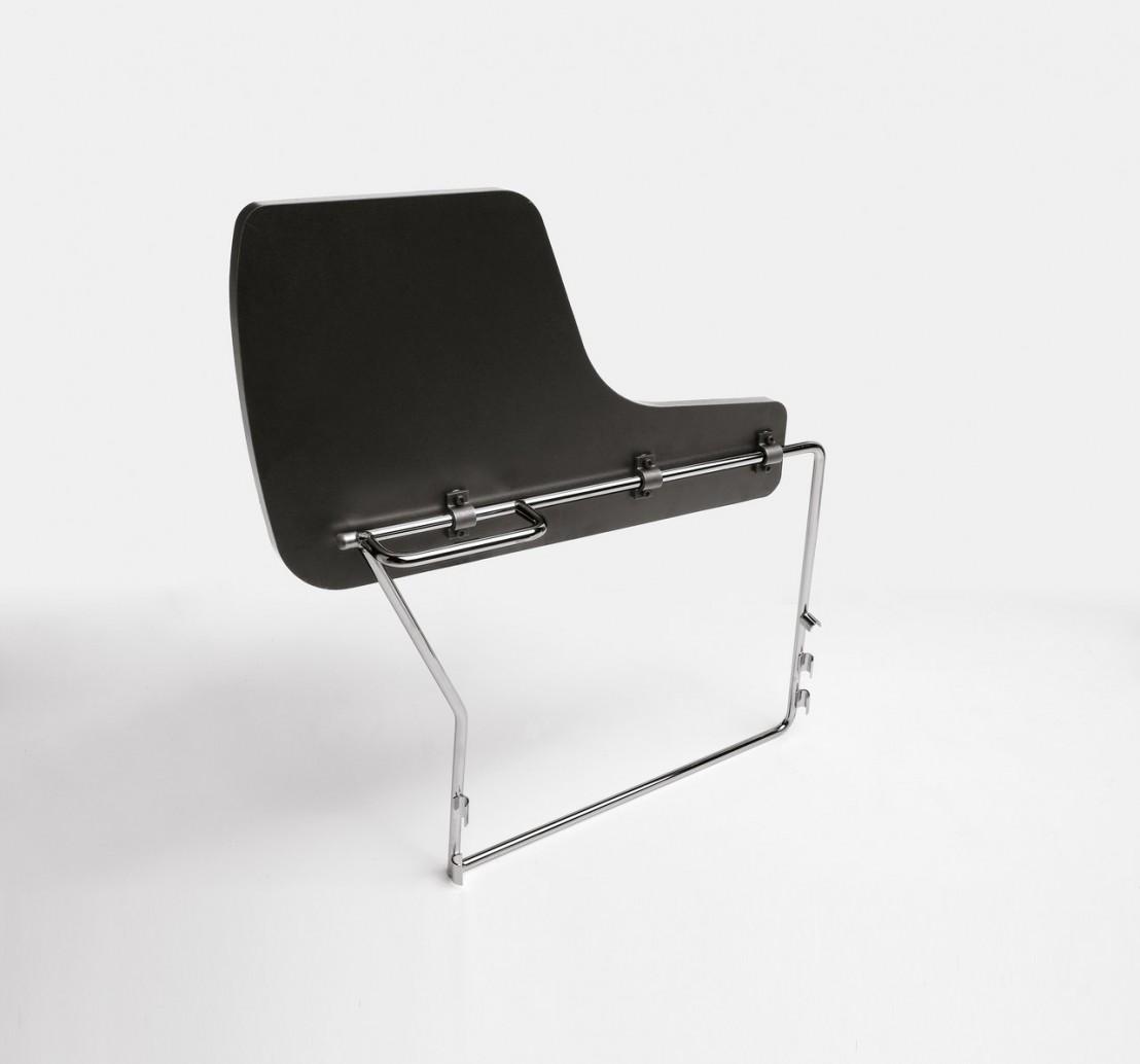 chaises de r union avec tablette anti panique par 6 empilables. Black Bedroom Furniture Sets. Home Design Ideas