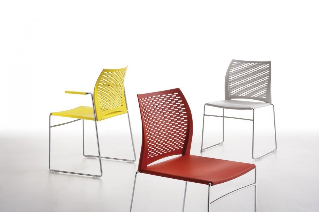 chaises de r union avec accoudoirs par lot de 6 empilables. Black Bedroom Furniture Sets. Home Design Ideas