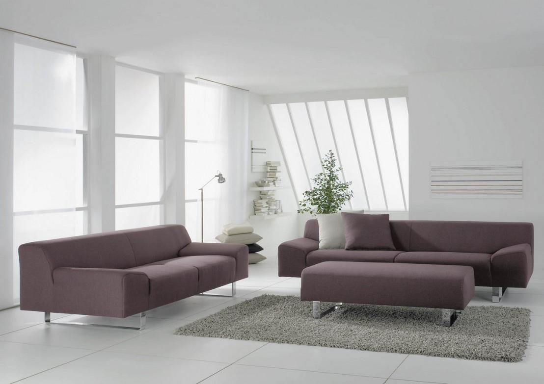 Canap design minimaliste en cuir 3 places m madonna for Design minimaliste