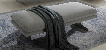 Grand pouf rectangulaire 140 cm ALWIN.C tissu ou cuir