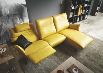 Canapé d'angle design JEWEL.RELAX. TM 3.5 places, 2 assise de relaxation, et sa chaise longue