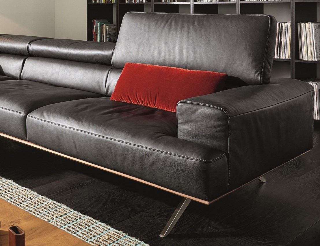 canap avec chaise longue temperant pm cuir ou tissu. Black Bedroom Furniture Sets. Home Design Ideas
