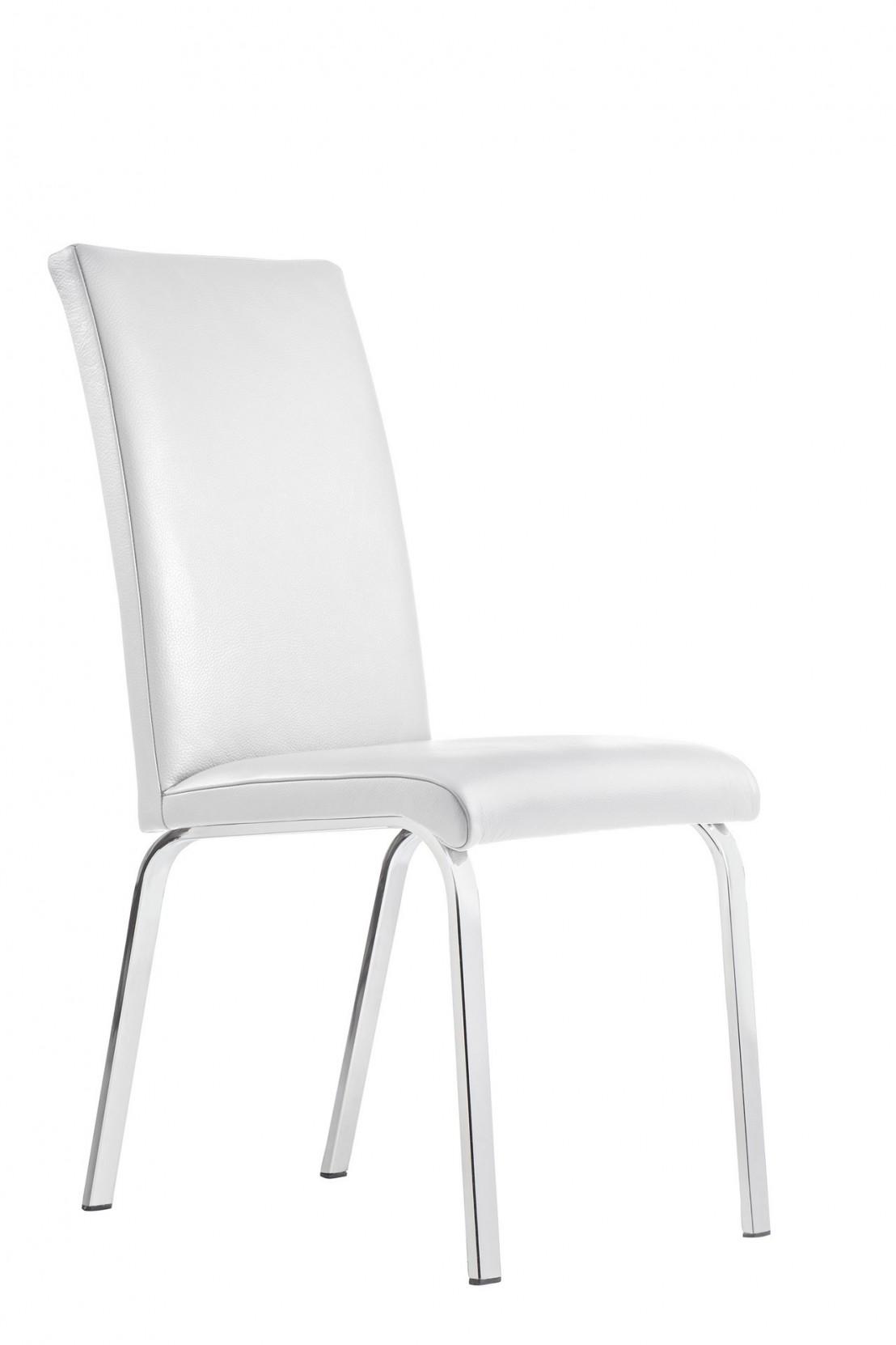 Chaises design lofty m 4 pieds ou luge cuir ou tissu for Chaise 4 pieds design