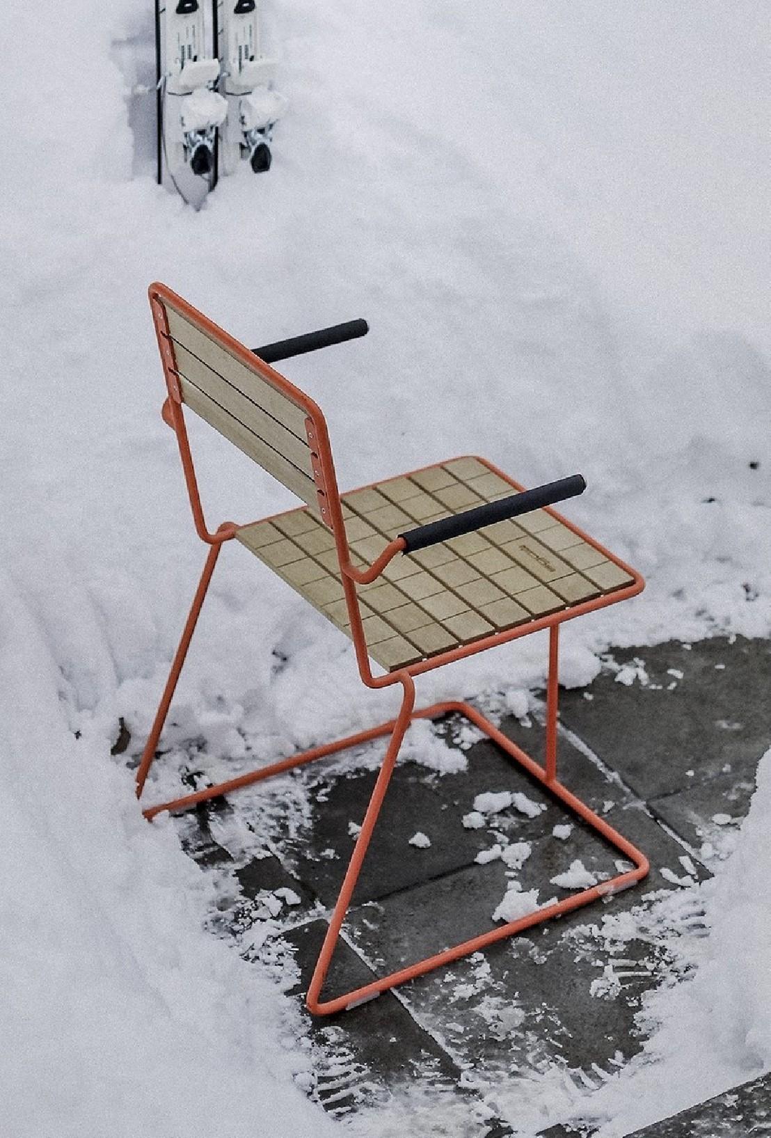 Fauteuil design de terrasse tina m tal couleur et bois d - Fauteuil en bois exterieur ...