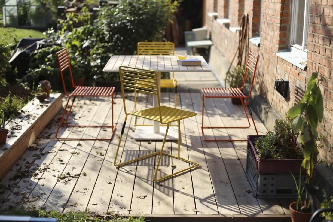 beautiful table de jardin bois metal images amazing. Black Bedroom Furniture Sets. Home Design Ideas