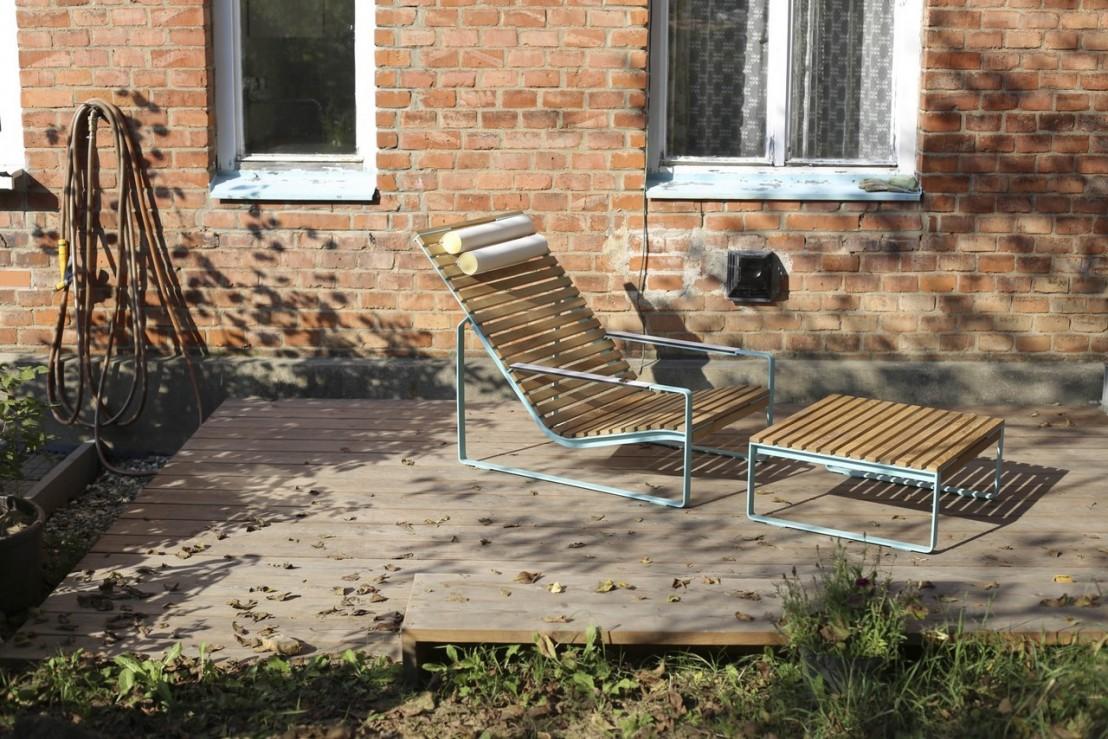 Fauteuil lounge transat pr va ext rieur de jardin en - Fauteuil en bois exterieur ...