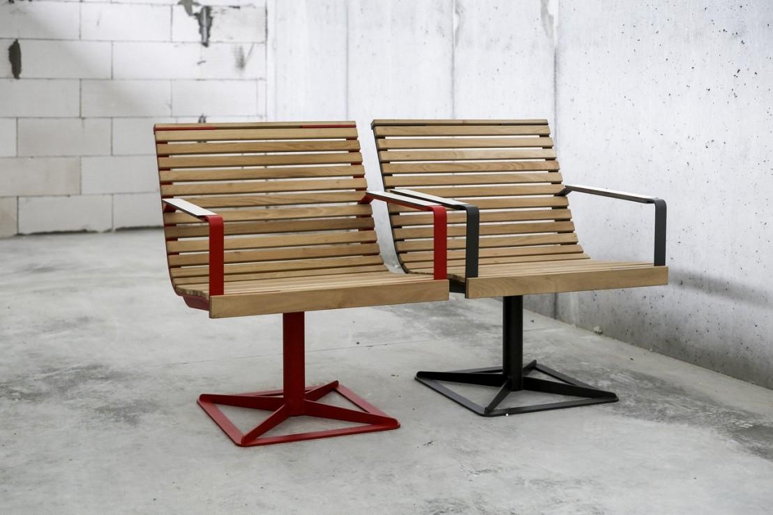 fauteuil pr va ext rieur pour terrasse en m tal acier de couleur et en bois massif seanroyale. Black Bedroom Furniture Sets. Home Design Ideas