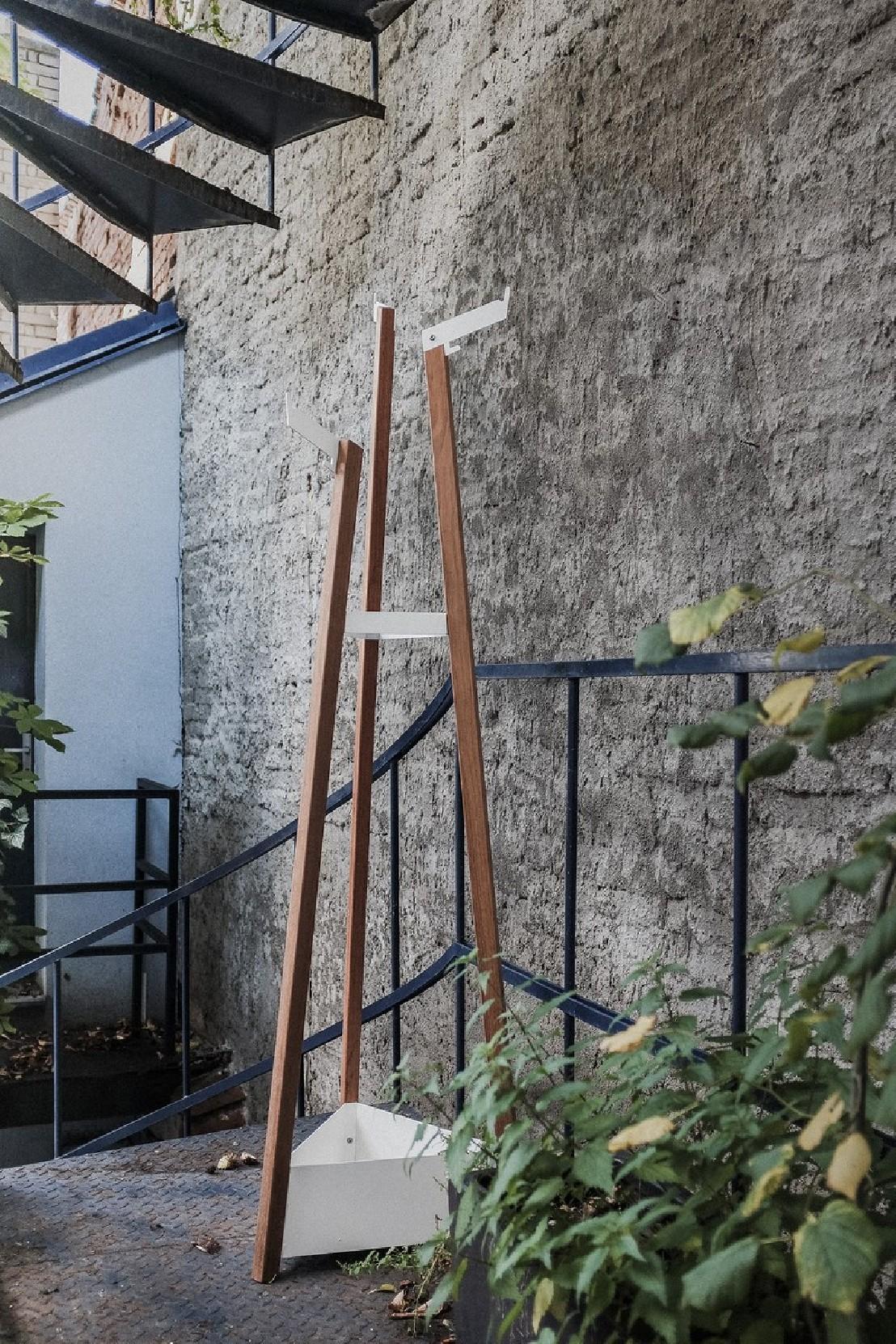 Porte manteau pour ext rieur terrasse salto en m tal acier for Porte bois exterieur