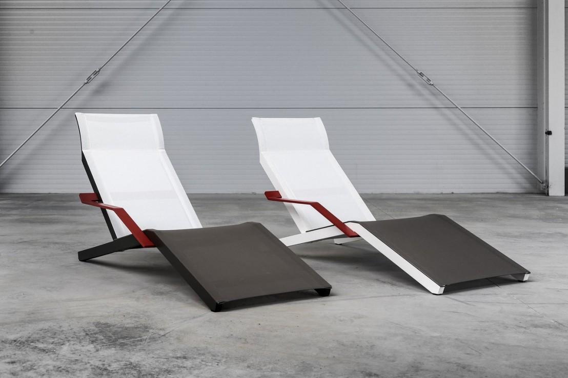 alva chaise longue design contemporain ext rieur pour terrasse en aluminium de couleur et tissu. Black Bedroom Furniture Sets. Home Design Ideas