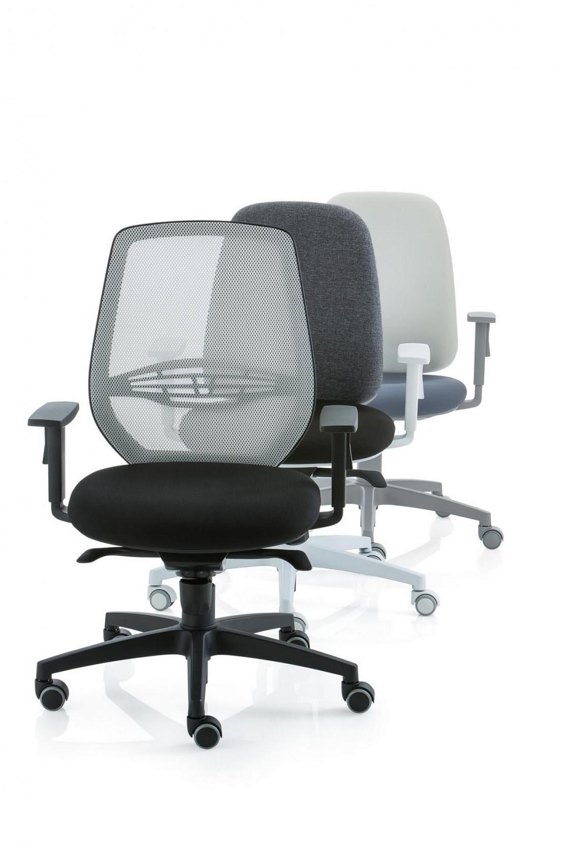 fauteuil de bureau post 30 basic pas cher dossier haut en r sille. Black Bedroom Furniture Sets. Home Design Ideas