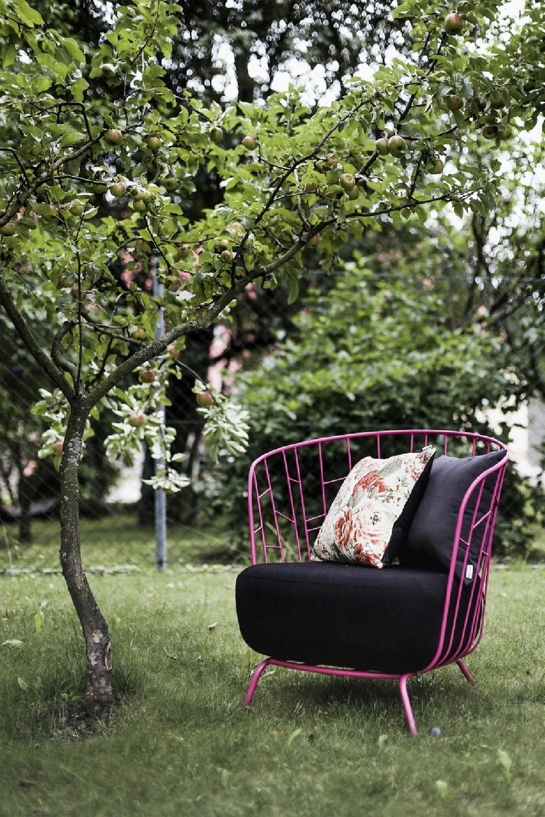 fauteuil maj romantique ext rieur de jardin en m tal acier de couleur et tissu outdoor seanroyale. Black Bedroom Furniture Sets. Home Design Ideas