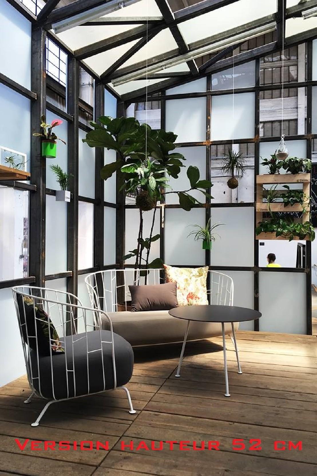 table basse ronde 70 cm maj ext rieur de jardin en m tal. Black Bedroom Furniture Sets. Home Design Ideas