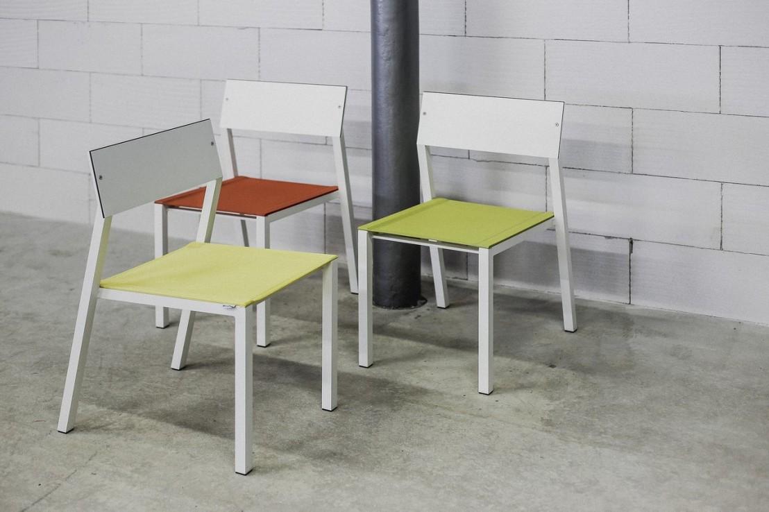 Chaise cora ext rieur de jardin en m tal aluminium de for Chaise aluminium exterieur