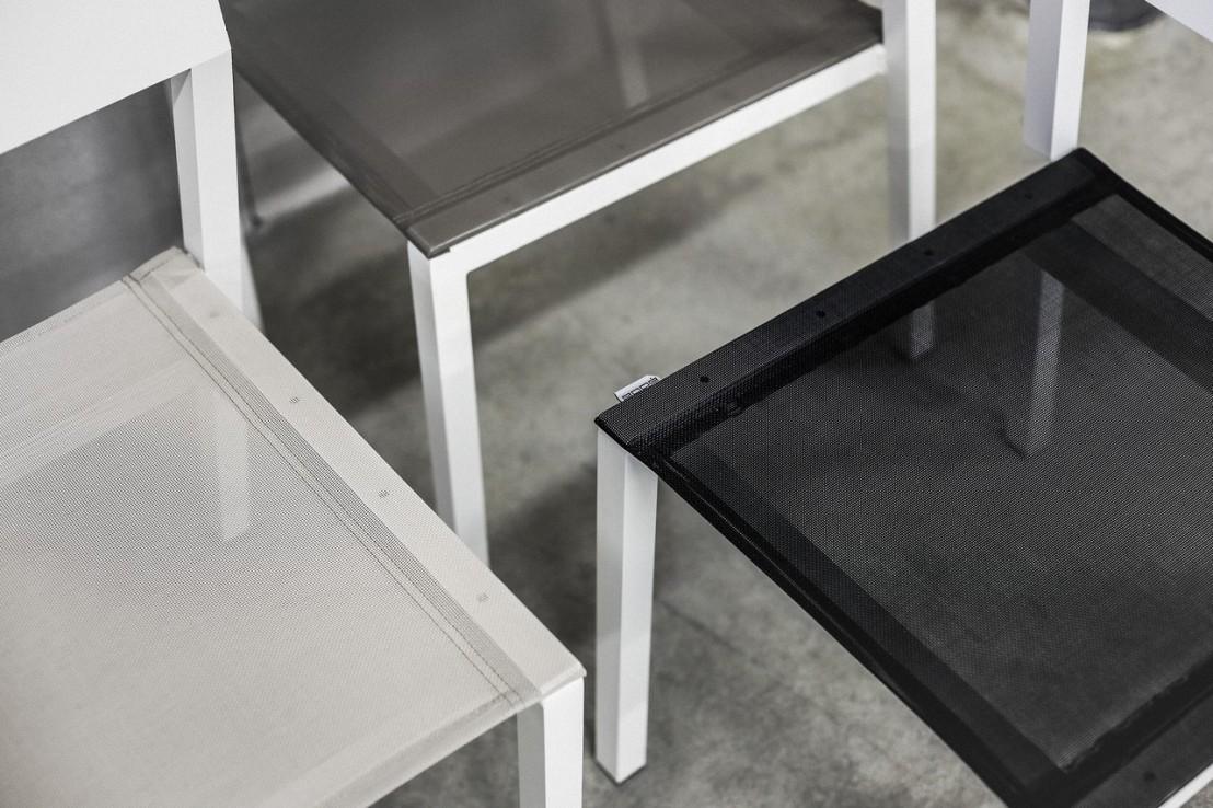 Chaise cora ext rieur de jardin en m tal aluminium de - Chaise metal couleur ...
