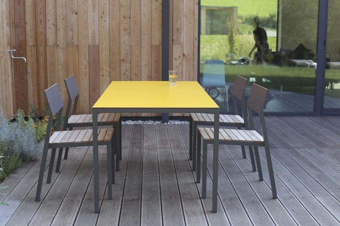 Table cora rectangle 175 cm pour salon de jardin en m tal - Salon de jardin en metal de couleur ...