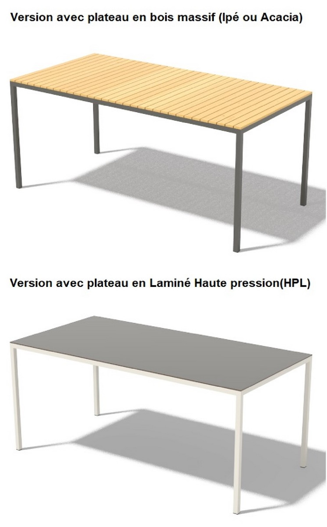 table de jardin plateau hpl cool table de jardin sena cm en bois massif et plateau hpl de. Black Bedroom Furniture Sets. Home Design Ideas