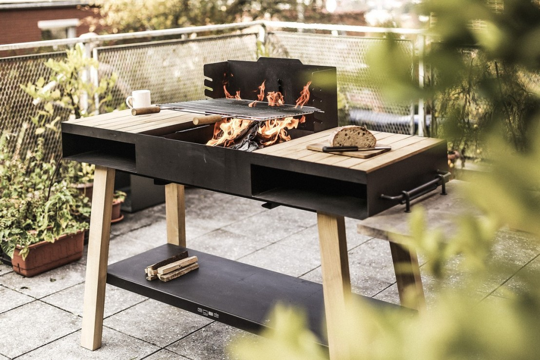 barbecue grill cuisine ext rieure sur pieds back to fire. Black Bedroom Furniture Sets. Home Design Ideas