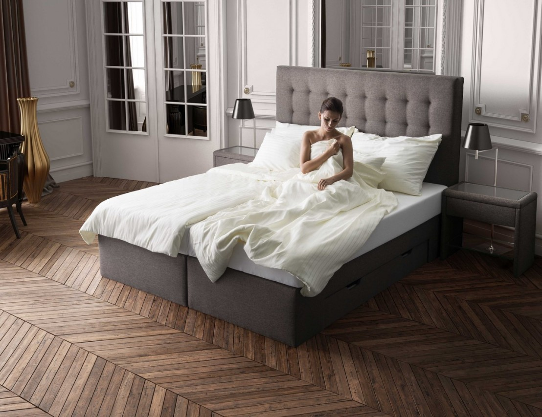 ensemble literie adam t te de lit sommier et matelas multi zones. Black Bedroom Furniture Sets. Home Design Ideas