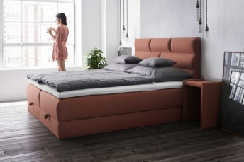 Ensemble literie FASHION complet tête de lit, sommiers avec matelas intégré et sur-matelas multi-zones