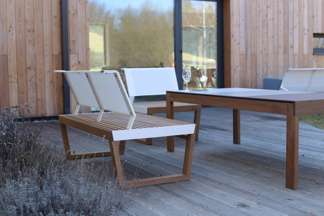 Banquette 2 places ext rieur de jardin barka design en for Exterieur design