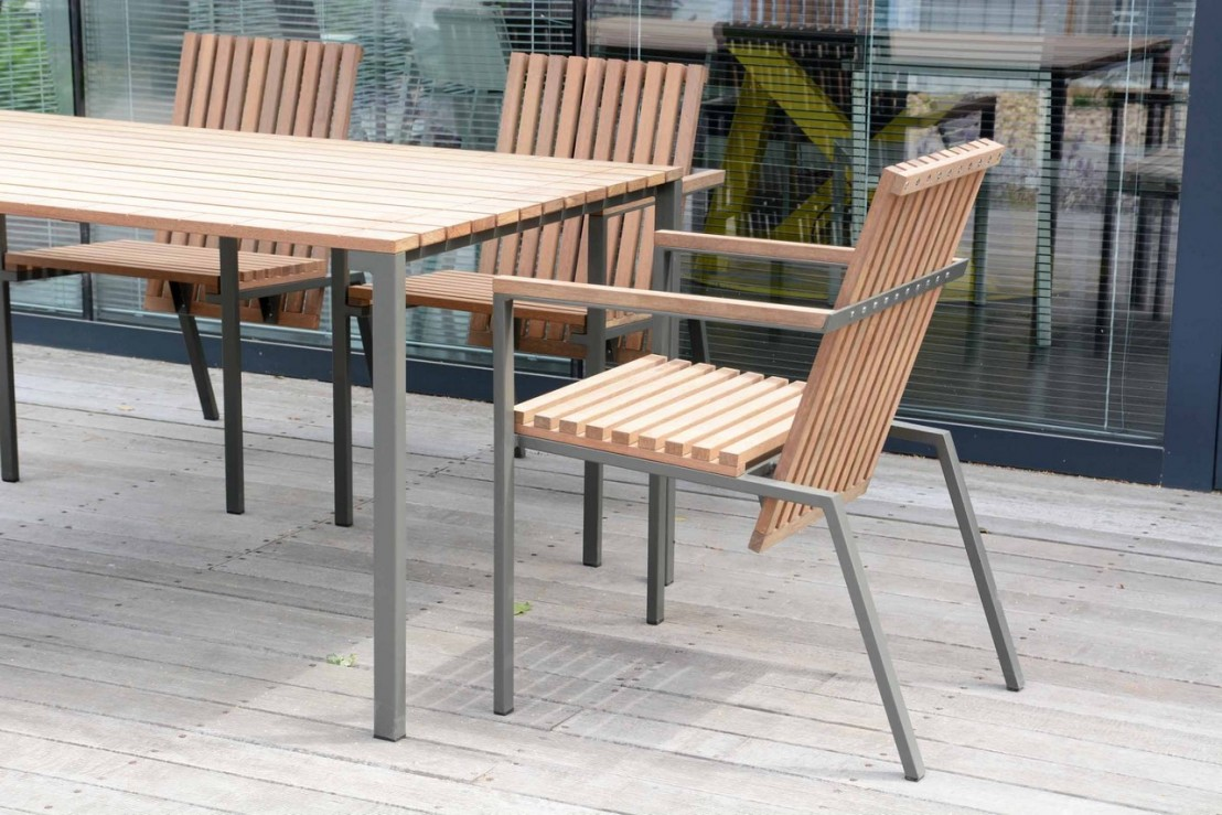 salon de jardin table bistrot rectangle 95x166 cm et 4. Black Bedroom Furniture Sets. Home Design Ideas