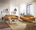 Canapé en cuir DECADE confort souple 2,5 places