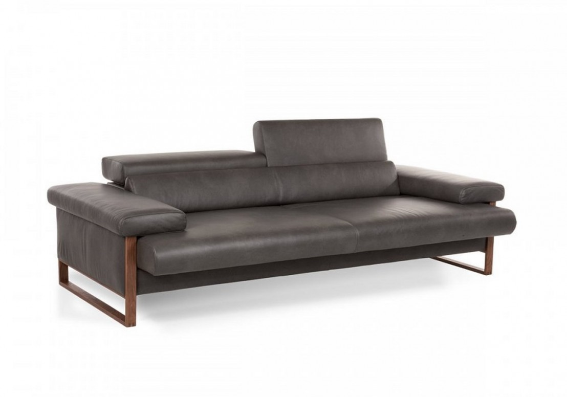 Canap 2 5 places cuir design dreamline assises motoris es - Canape cuir 5 places ...