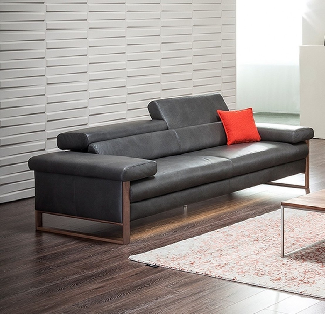canap 2 5 places cuir design dreamline assises motoris es. Black Bedroom Furniture Sets. Home Design Ideas