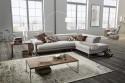 Canapé angle cuir DREAMLINE 4,5 places cuir ou tissu, assises motorisées