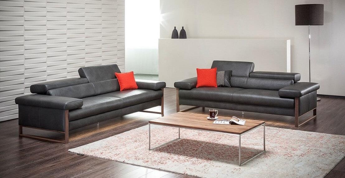 Canape cuir design 3 places dreamline assises motorisees for Canapé cuir design 3 places
