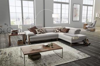Canapé d'angle cuir design 5 places DREAMLINE assises réglables