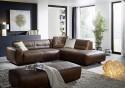 Canapé 4,5 places d'angle design DUMPY en cuir