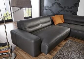 Canapé d'angle 4,5 places DUMPY assise réglable