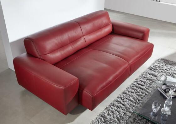 Canapé design cuir ou tissu 3 places DUMPY assises motorisées
