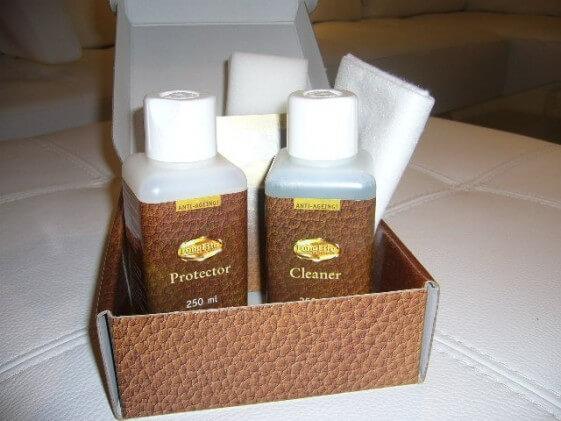 Kit coffret produit d'entretien/soins et de nettoyage du cuir