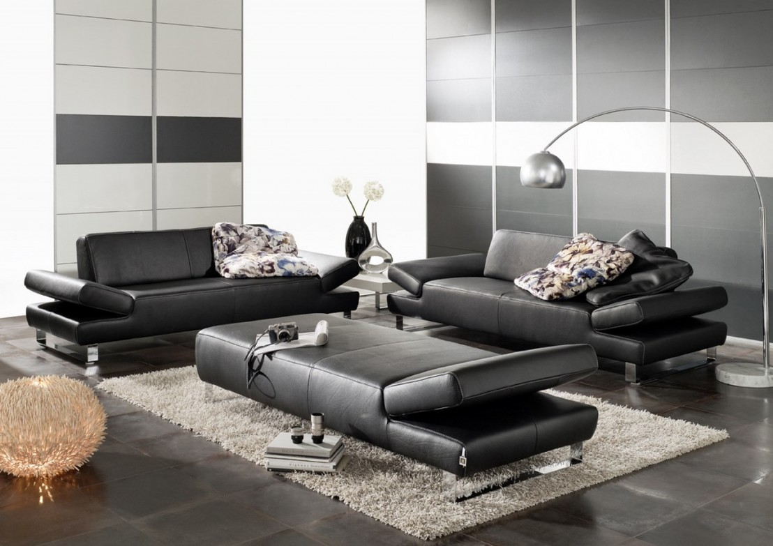 canap 2 places design xxl profond longrun en cuir. Black Bedroom Furniture Sets. Home Design Ideas