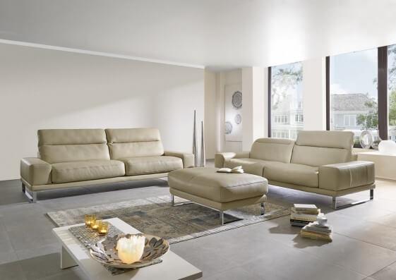 Canapé 2,5 places confort plumes Hc.Héros avec têtières
