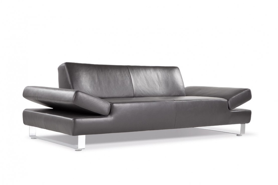 canap profond xxl longrun en cuir design 3 places