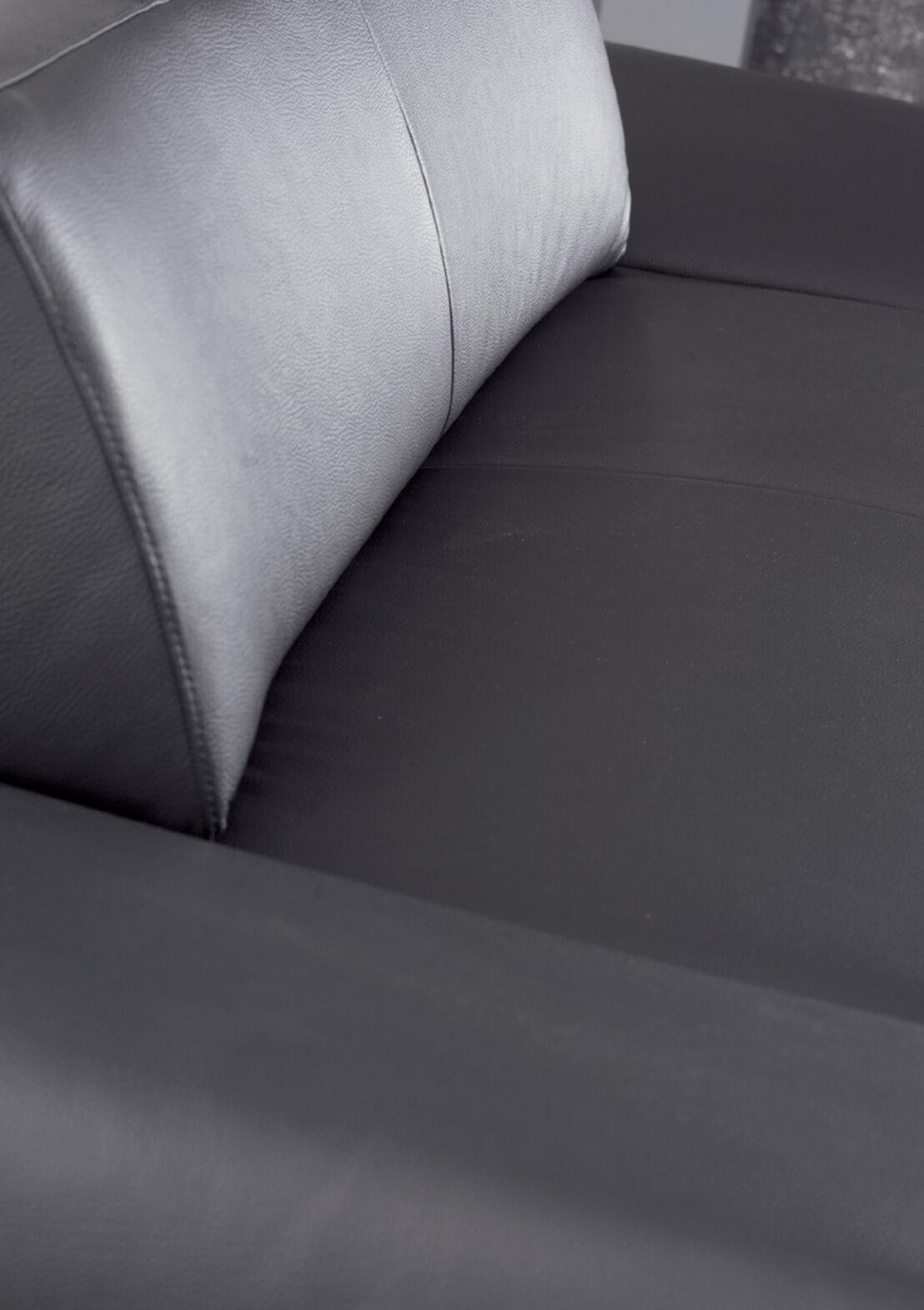 Canap profond xxl longrun en cuir design 3 places for Canape xxl cuir