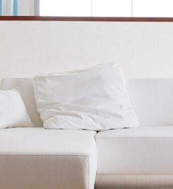 Grand coussin en cuir carré LONGRUN 70 x 70 cm