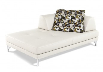 Chaise longue modulable Elements en cuir